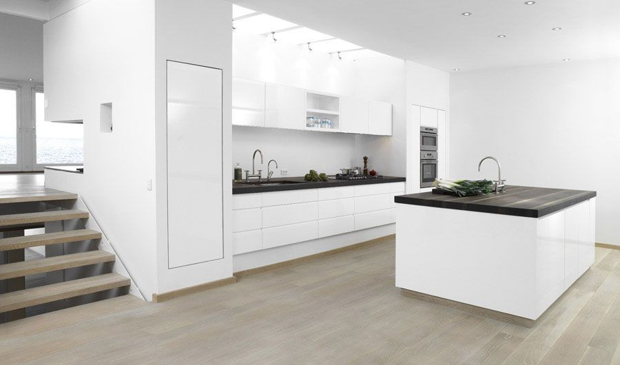 Clean White Kitchen Design Ideas | Wanaka Kitchens | Pinterest ...
