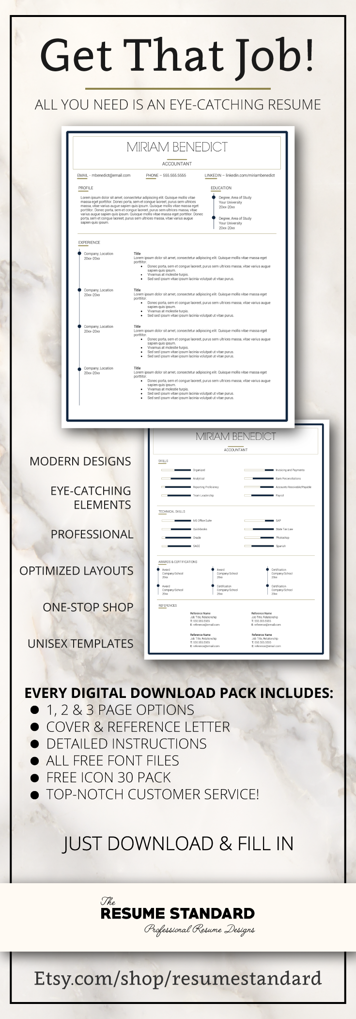 Resume Templates  Cv Templates  Resume Design Packages  Get The