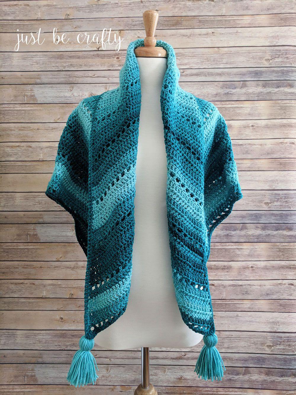 Crochet Triangle Shawl Pattern - Free Crochet Pattern by