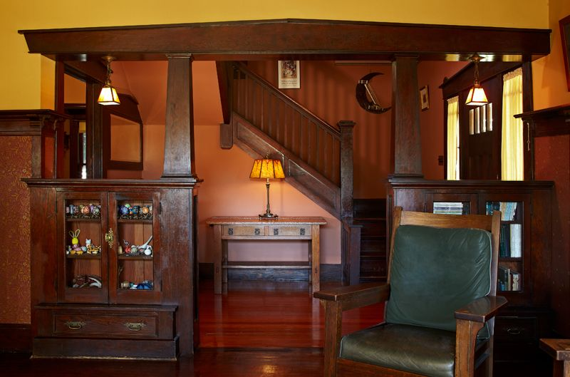Pasadena Bungalow With Original Woodwork Library Table
