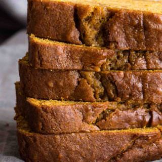 Pumpkin Bread A classic Pumpkin Bread that is moist and tender with notes of warm cinnamon, nutmeg, cloves and vanilla.