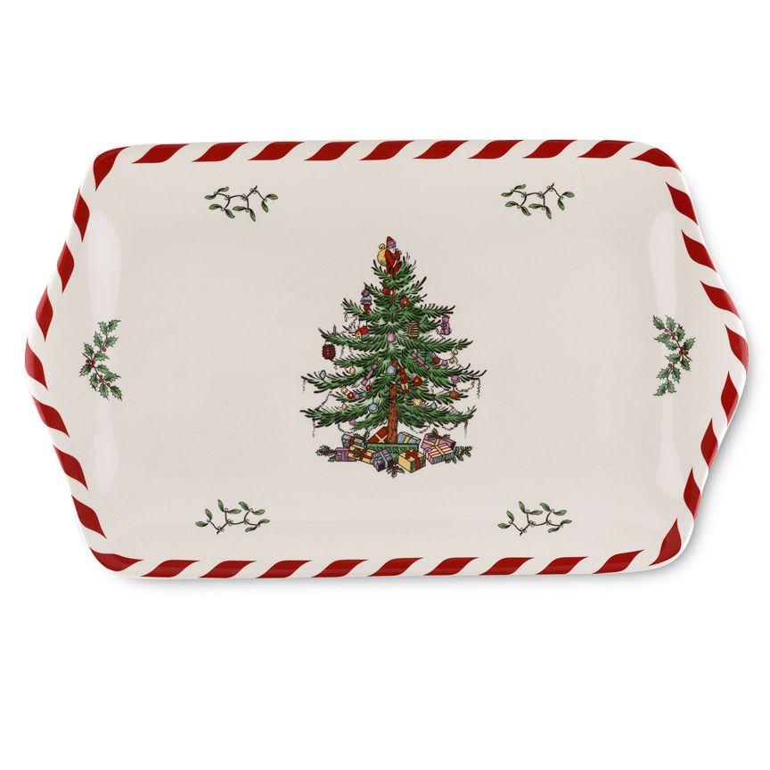Spode Christmas Tree Peppermint Dessert Tray $2195, You Save $2205