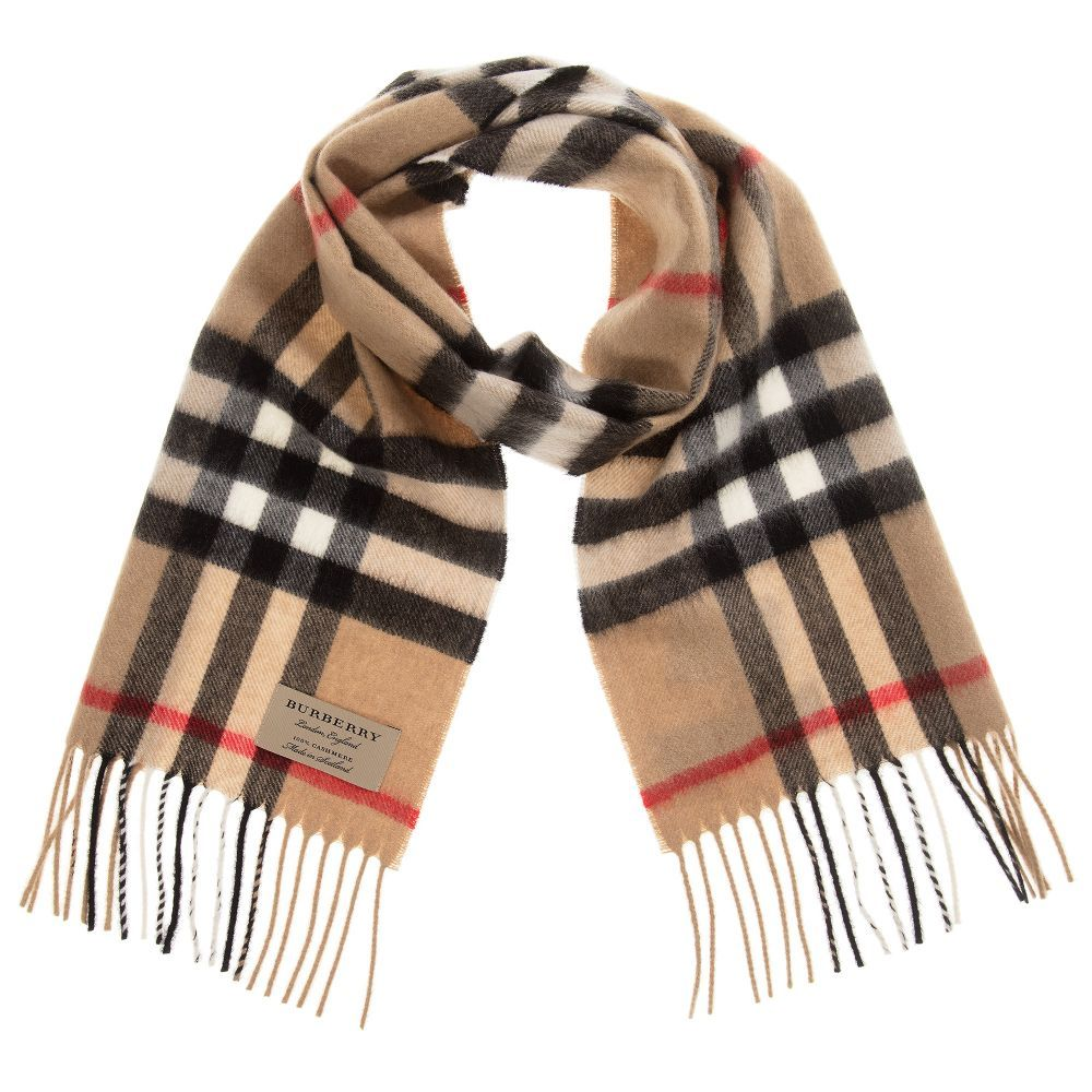 7eedd19f26d93 Burberry Check Cashmere Scarf (130cm). Shop from an exclusive selection of designer  Scarves