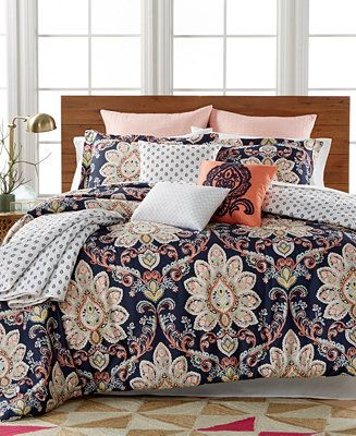 Milan 10-Pc. Reversible Comforter Sets - Bed in a Bag - Bed & Bath ...