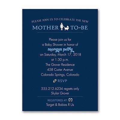 She's having a boy! Announce it with style and invite guests to join in celebrating at the baby shower in her honor. #BabyShower