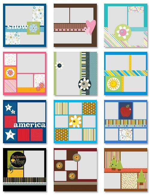 Simple Scrapbooking Ideas Would Make Great Calendar Pages