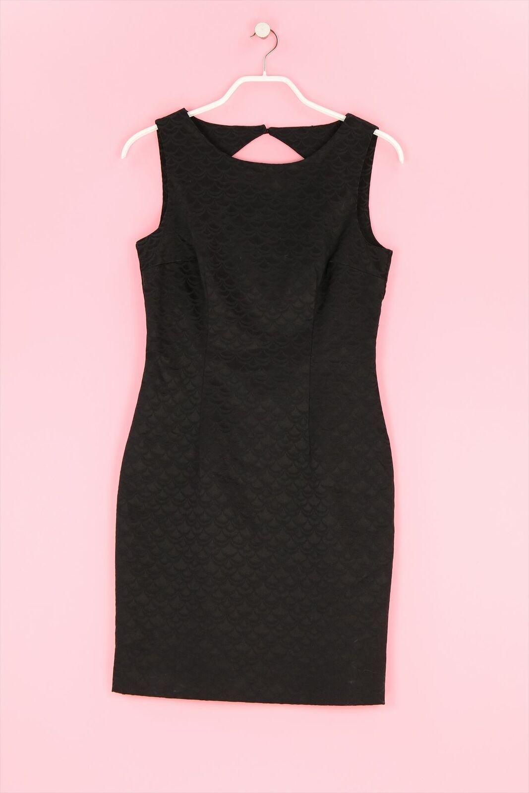 HM Etui-Kleid mit Rückenausschnitt L schwarzblau Sheath Dress