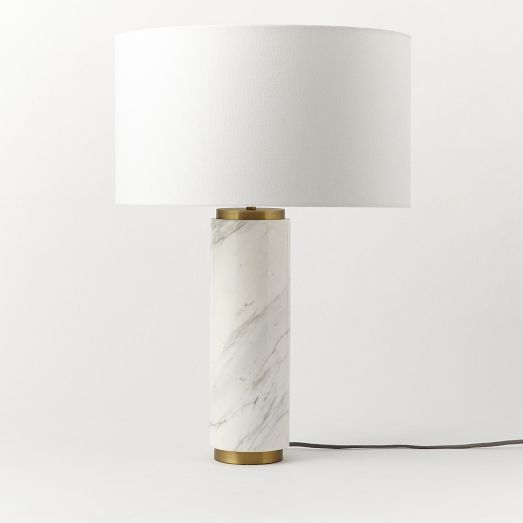 In Love Marble Pillar Table Lamp At West Elm Marble