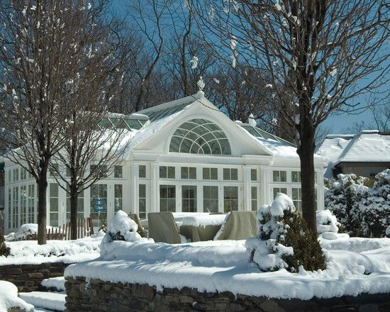 Winter Conservatory Pool Houses Pool House Glass Conservatory