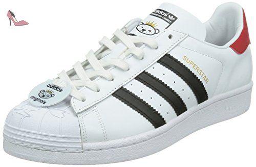 Adidas Superstar Nigo Bearfoot chaussures, Blanc, 43 1/3 - Chaussures adidas  (