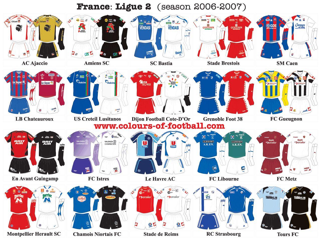 2006 07 French Ligue 2 Kits Hermes Oran Sandal Oran Football