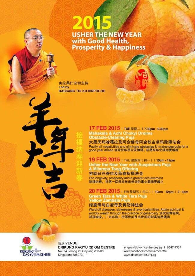 Buddhist event to usher in the Lunar New Year. Drikung