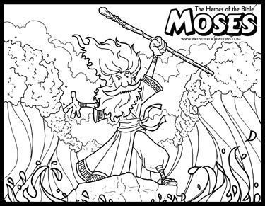 the heroes of the bible coloring pages moses and the parting of the red sea
