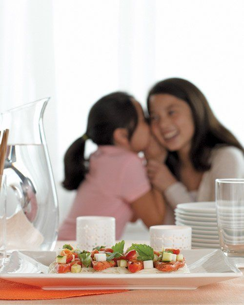 Grilled Salmon and Chilled Somen with Yuzu Sauce by Martha Stewart