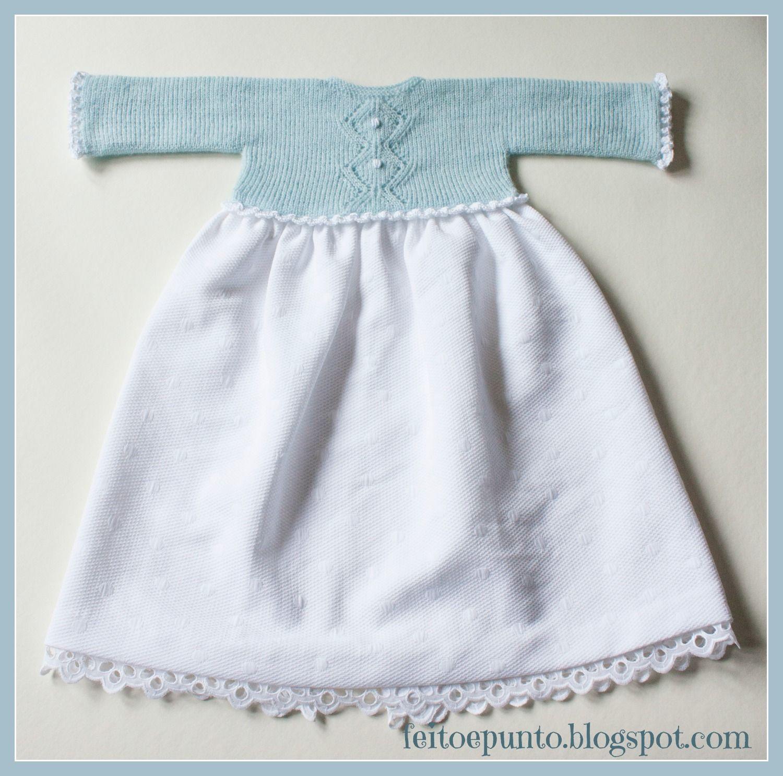 Faldón para bebé | Emma | Pinterest | Baby knitting, Baby y Baby Dress