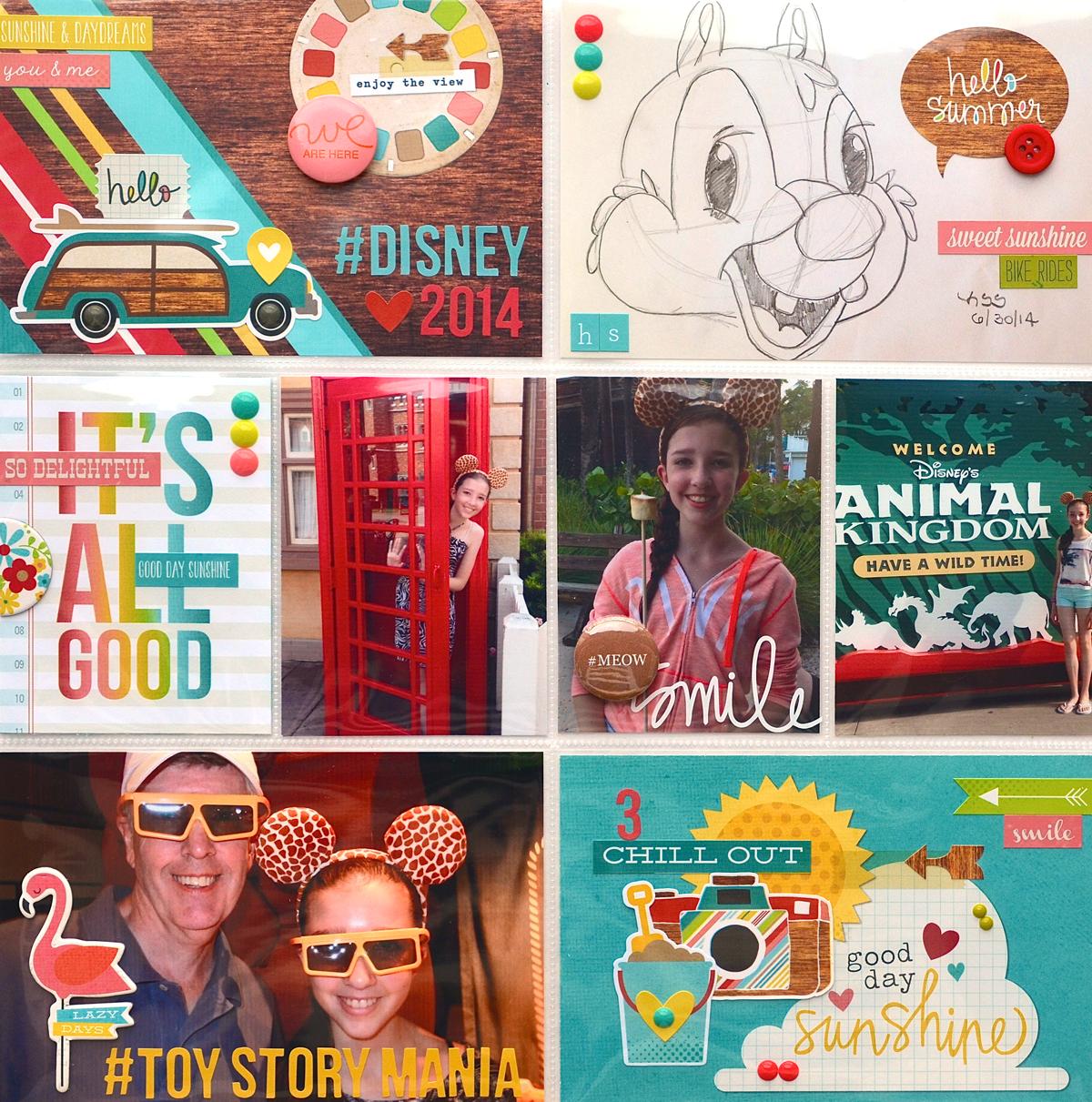 Disney 2014 (left side) using @simplestories Good Day Sunshine. #pocketpages #disney #summer #simplestories #gooddaysunshine