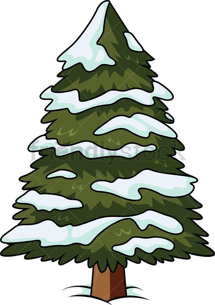 Christmas Tree With Snow On It Cartoon Clipart Vector Friendlystock Christmas In 2020 Cartoon Christmas Tree Cartoon Clip Art Christmas Tree With Snow