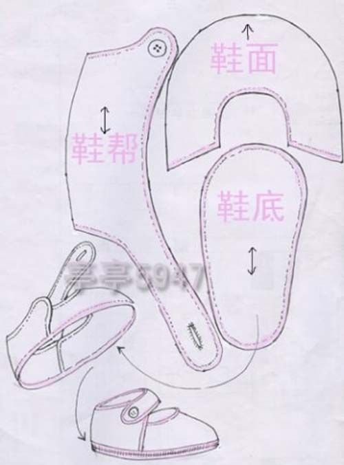 Patrones gratis para hacer zapatitos para bebe | Zapatos de