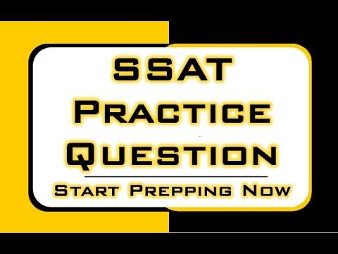 picture relating to Printable Ssat Practice Test titled SSAT Teach Speculate - Absolutely free SSAT Math Ideas