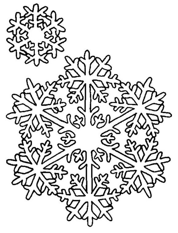 Snowflake Coloring Pages | coloring | Pinterest | Silhouettes ...