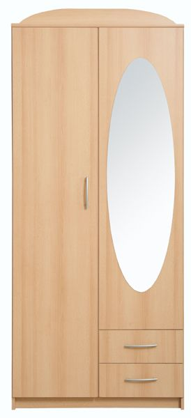 Wardrobe - Kaja 2D Impact Furniture Shop UK - Two door wardrobe with