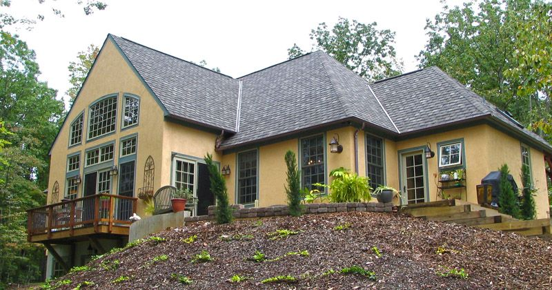 Tuscan style stucco home in virginia project exterior for French country style homes exterior