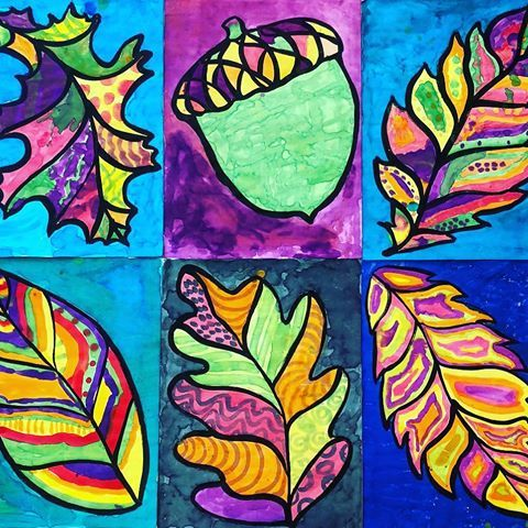 Happy fall Sunday to all!! I painted the outlines of these big fall shapes for a…