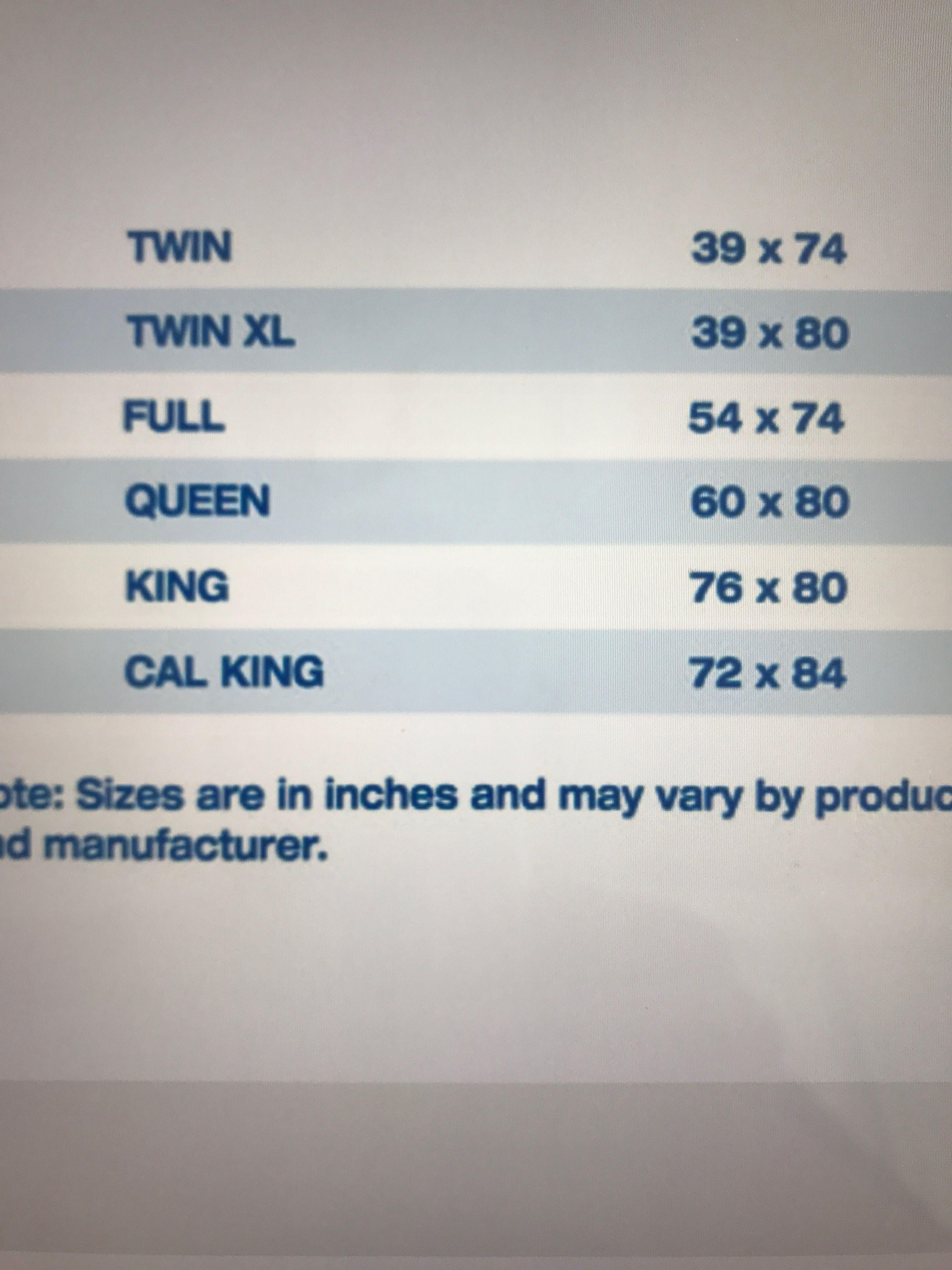 Mattress sizes Mattress sizes, Design guide, Twin xl