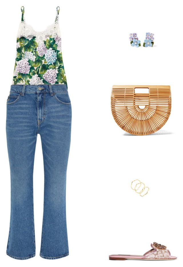 """Street Style"" by julieselmer on Polyvore featuring Dolce&Gabbana, Attico, Cult Gaia and Gorjana"