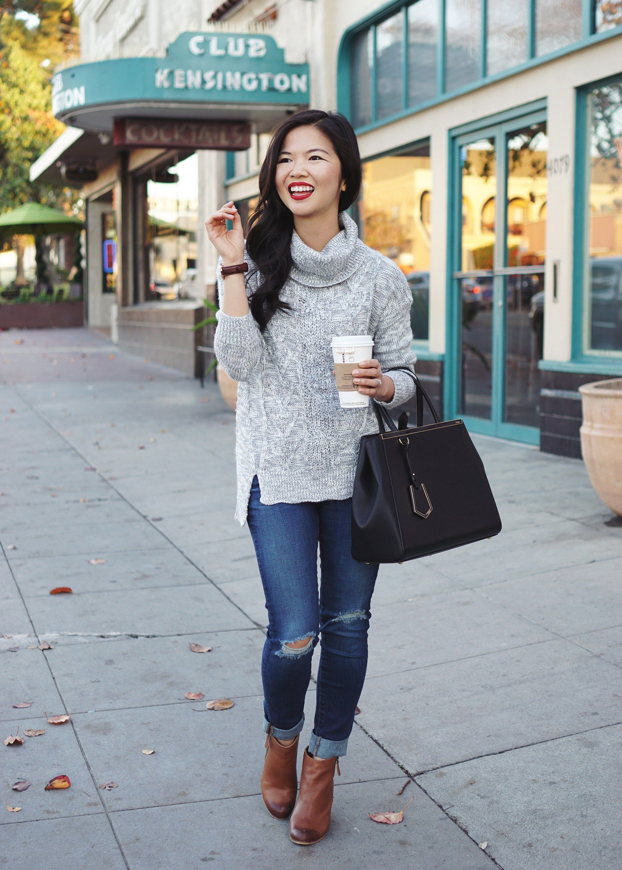 42438654cd8 Skirt The Rules in a grey turtleneck sweater