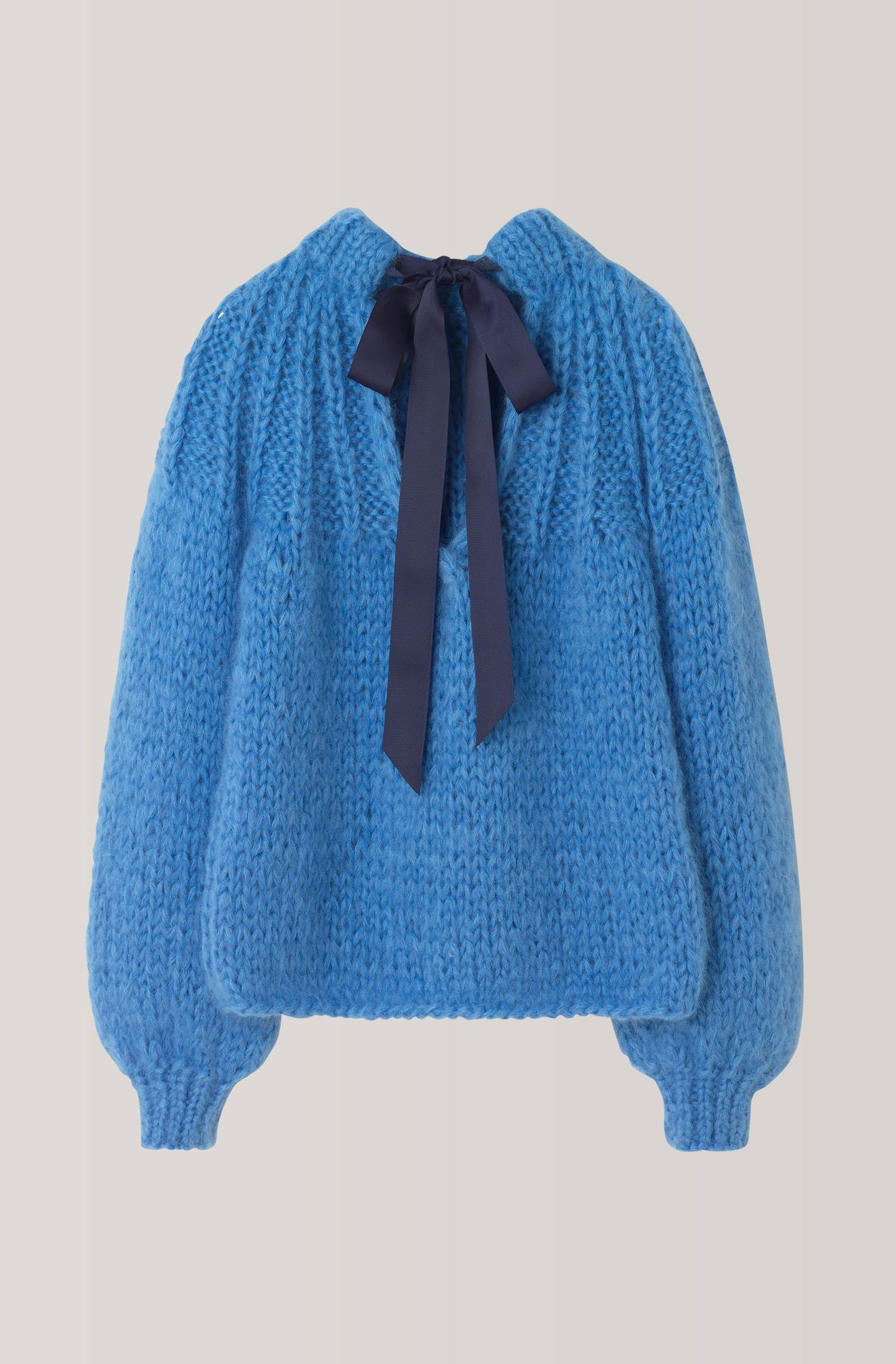 5bf419803c The Julliard Mohair Bow Pullover, Marina | Knits | Hand knit scarf ...