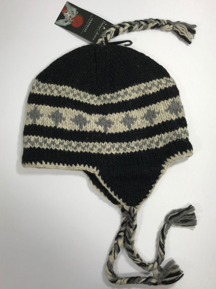 ff4729f4087 Hand-Knit Himalayan Wool Ski Beanie Hat Handmade In Nepal Holiday Gift  Unisex  fashion  clothing  shoes  accessories  unisexclothingshoesaccs ...