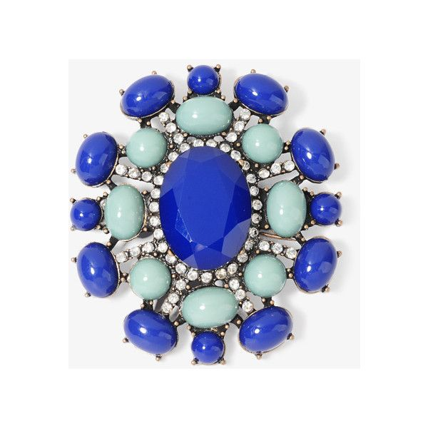 FOREVER 21 Colored Burst Brooch ($7.80) ❤ liked on Polyvore