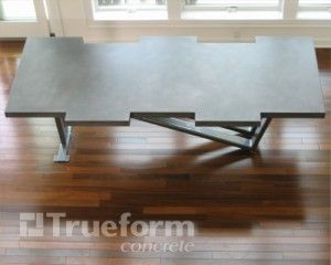 Concrete Dining Room Table - Trueform Concrete