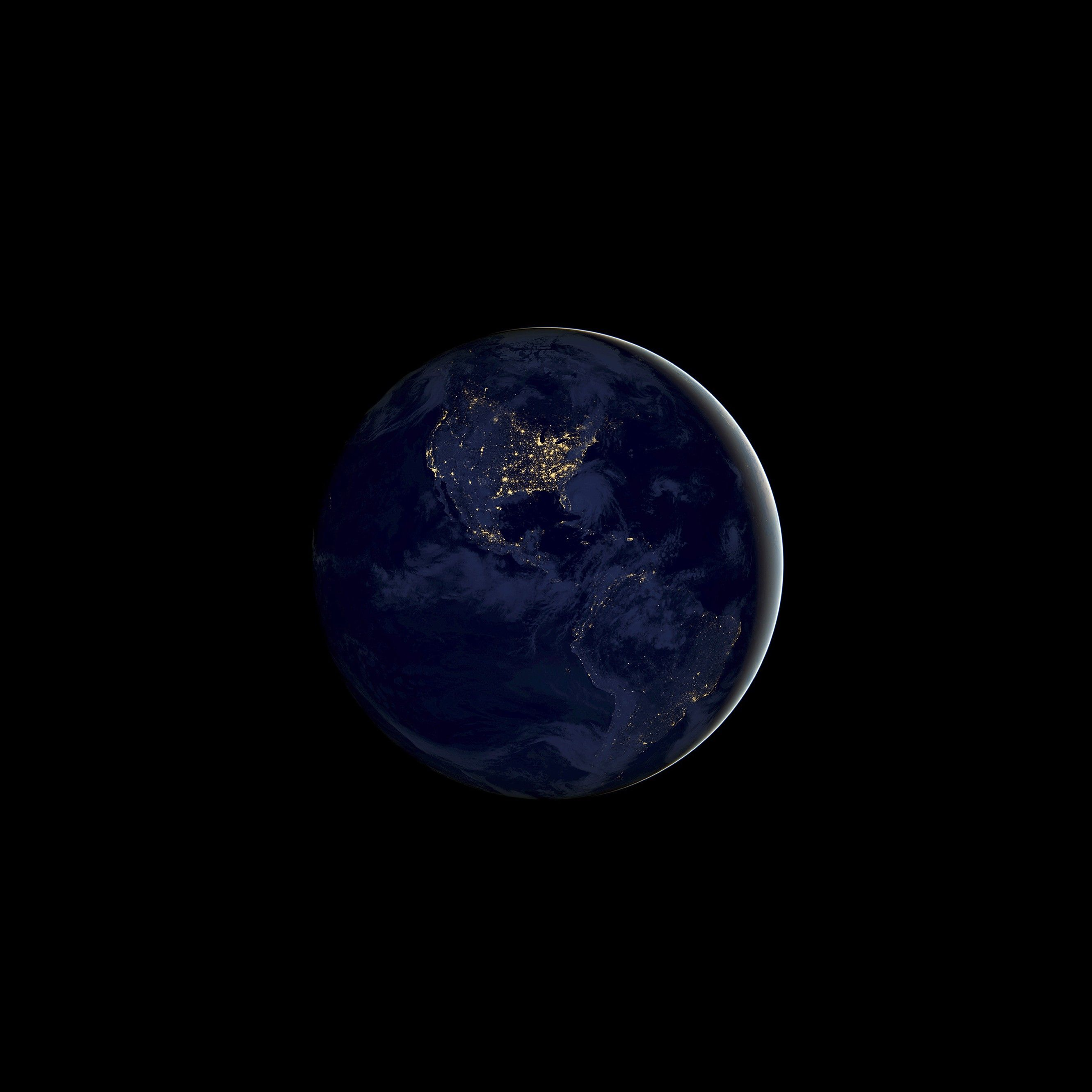 Hd wallpaper tap - Earth Night Tap To See More Ios 11 Hd Wallpapers