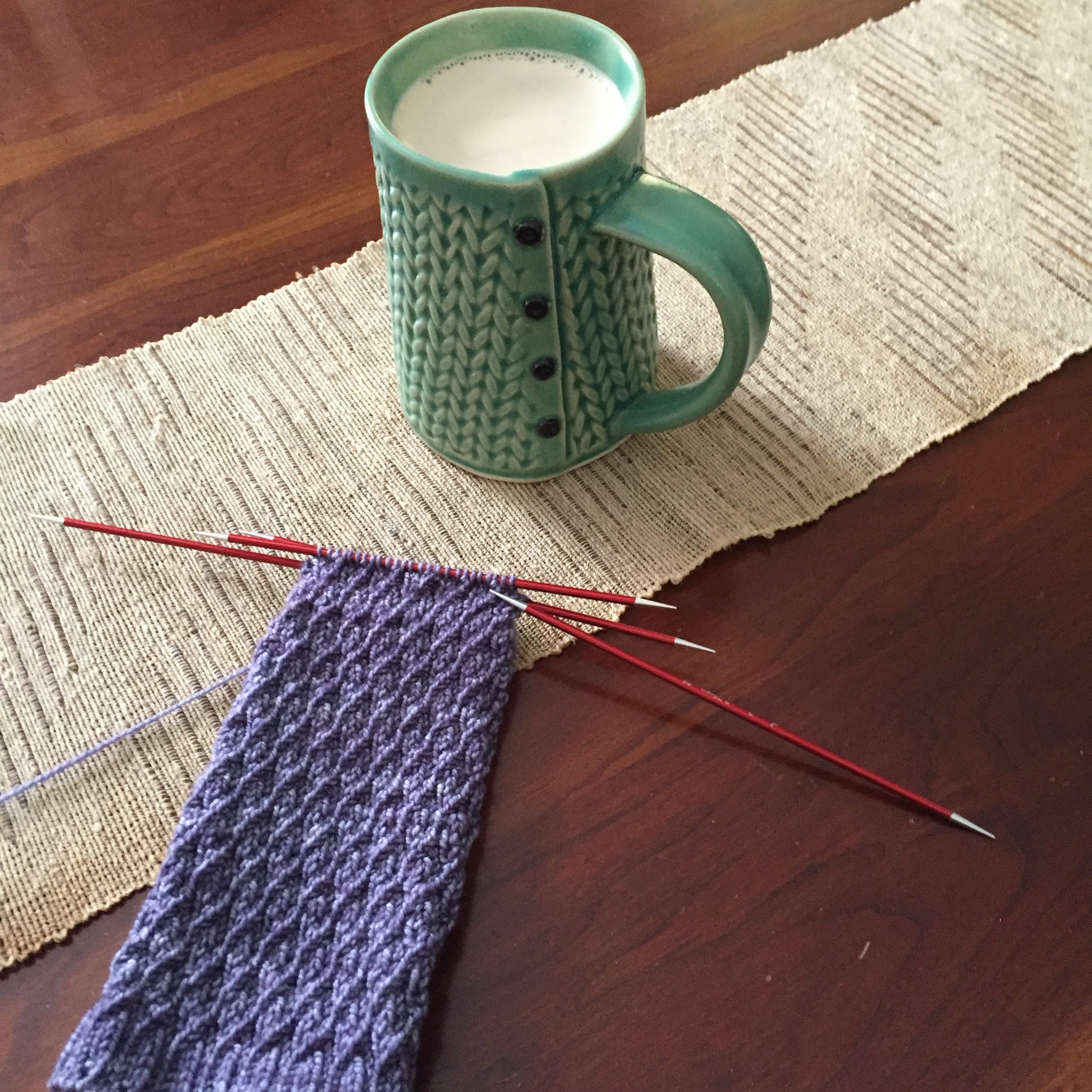 Chai and knitting
