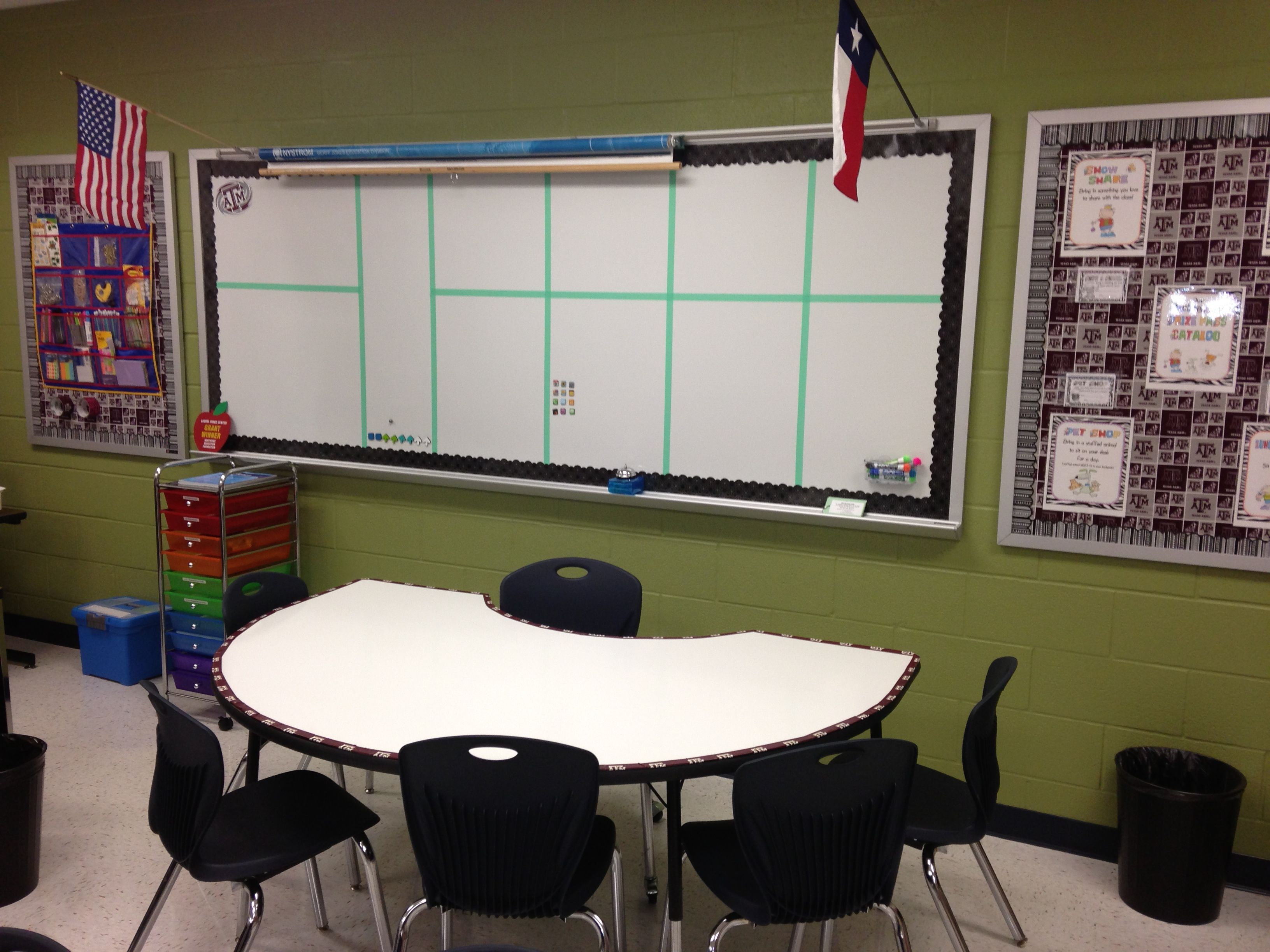Kidney table turned into a whiteboard table great for small