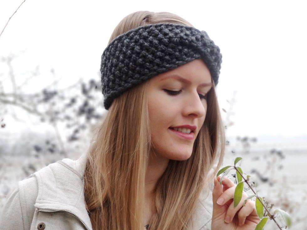 Anleitung: Twist-Stirnband mit Perlmuster stricken | Handarbeit ...