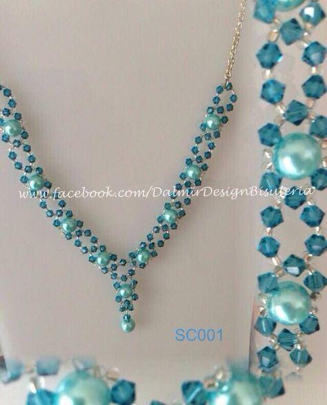 4bf2c308e4ef diy collar de perlas y piedras swarovski - Buscar con Google ...