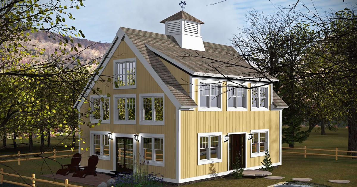 The Center Harbor Timber Frame Floor Plan 1750 Square Feet