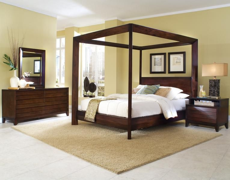 Canali Contemporary Queen Poster Bed By Ligna Furniture   Riverview  Galleries   Canopy Bed Furniture Store