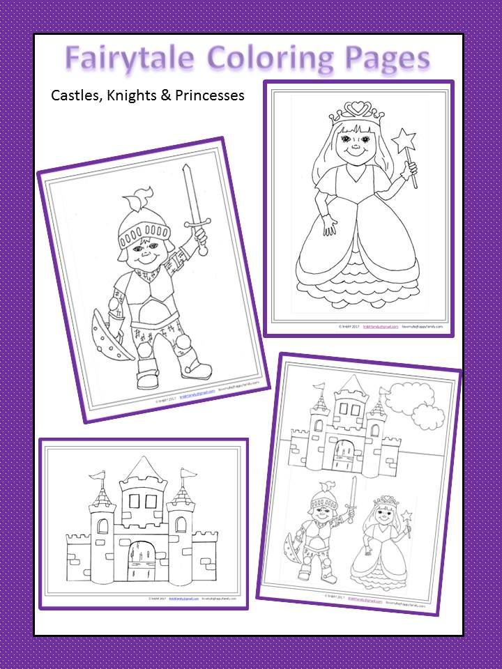 Castles, Knights and Princess Free Printable Coloring Pages ...