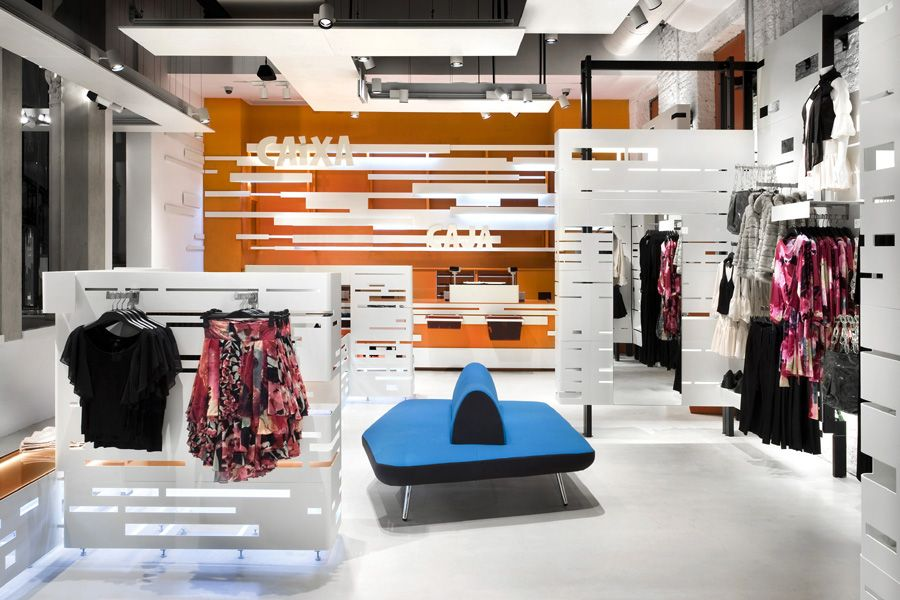 H&M Stores Graphic Designs Inside The Store Commercial Interiors