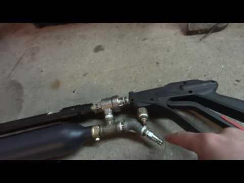 Simple multi shot pneumatic QEV air gun rifle & How To - YouTube