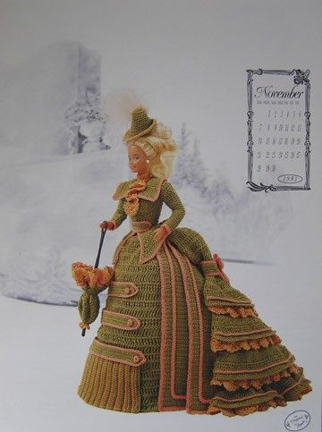 Image detail for -Annie's Attic Calendar Crochet Bed Doll Pattern November 1993