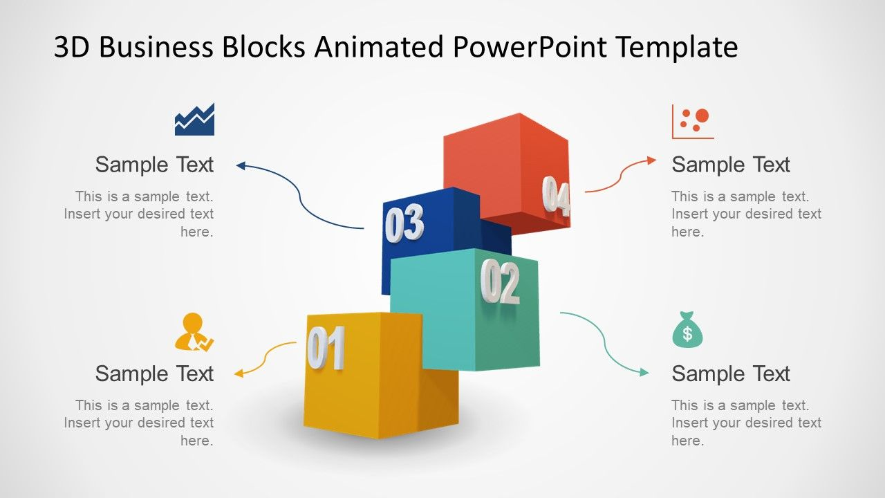 4 Cube Block Stages Powerpoint Slide Designs Powerpoint Powerpoint Templates