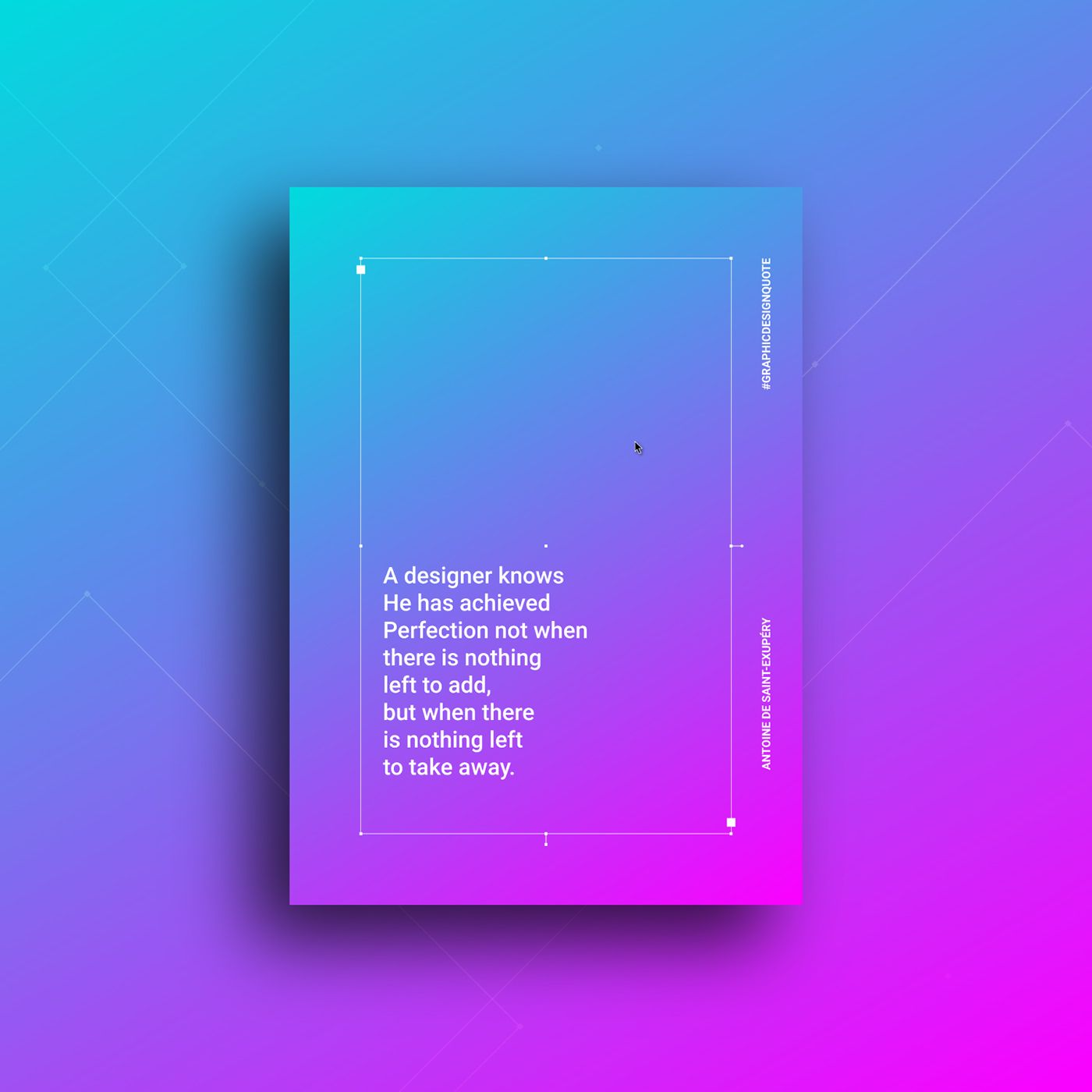 Graphic Design Quotes On Behance Graphic Design Quotes Design Quotes Gradient Color Design