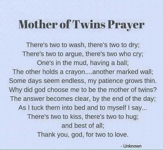 Twins Prayer Twin Mom Quotes Twin Quotes Twins Birthday Quotes