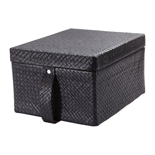 BLADIS Box with lid IKEA Suitable for storing DVDs, games, chargers remotes or desk accessories.