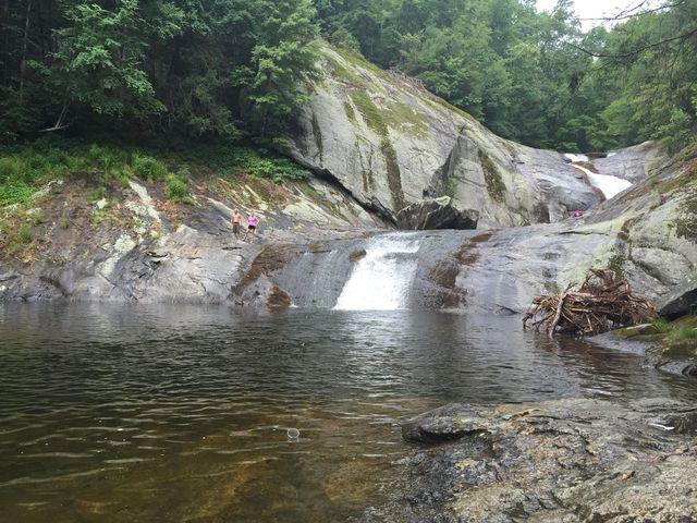 Sliding Rock in Asheville, North Carolina.   Swimming